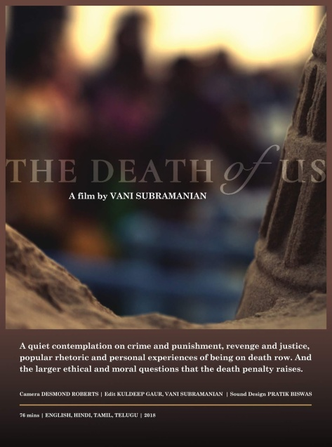 Resultado de imagen de the death of us vani subramanian poster
